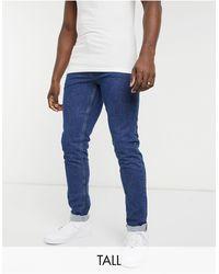 Farah – elm tall – jeans aus stretchdenim - Blau