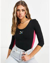 PUMA Classics Short Sleeve Bodysuit - Multicolour