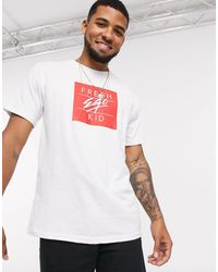 Fresh Ego Kid Box Logo T-shirt - White