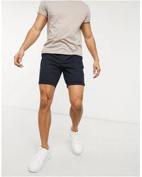 ASOS Skinny Chino Shorts - Blue