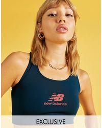 New Balance Темно-синий Бралетт