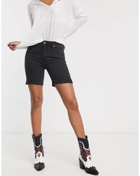Free People Avery Longline Denim Short - Black