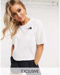 The North Face Simple Dome Crop T-shirt - White