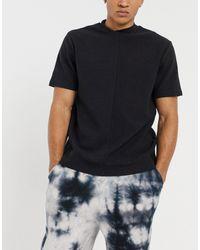 Bolongaro Trevor Textured Mock Neck T-shirt - Black