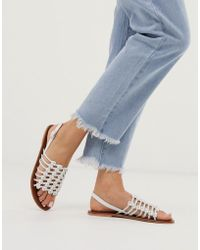 Warehouse - Knotted Detail Sandal In White - Lyst