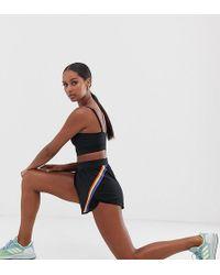 South Beach Rainbow Detail Shorts - Black