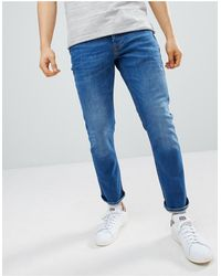River Island Jeans slim blu medio délavé
