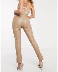 Ivyrevel Pantalon ajusté en PU - Beige - Neutre
