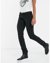 Love Moschino Low Rise Skinny Jeans - Black