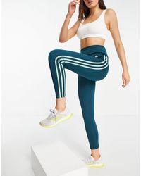 adidas Originals Adidas Training 3 Stripe leggings - Blue