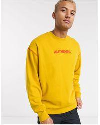 ASOS Oversized Sweatshirt - Yellow