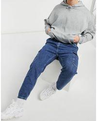 Pull&Bear - Jeans lavaggio blu medio - Lyst