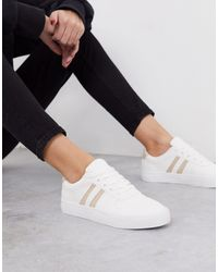 London Rebel Lace Up Trainers - White