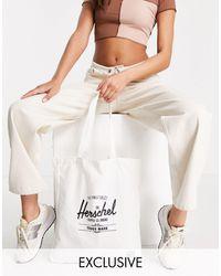 Herschel Supply Co. Bolso tote con logo exclusivo - Blanco