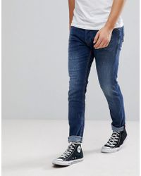 DIESEL - Tepphar Jeans In Mid Wash - Lyst