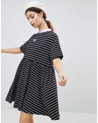 Lazy Oaf - Oversized Smock Dress In Stripe - Lyst