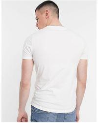 River Island Camiseta ajustada blanca - Blanco
