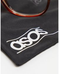 ASOS - Очки-авиаторы С Прозрачными Стеклами В Пластиковой Черепаховой Оправе - Lyst