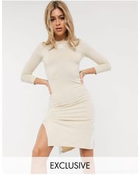 PUMA Платье Миди Кремового Цвета С Разрезом Эксклюзивно Для Asos-белый - Естественный