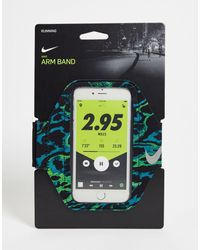 Nike Running Lean Printed Phone Arm Band - Black