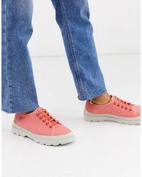Camper Brutuslace Up Flat Shoes - Pink