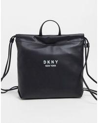 DKNY Mochila con cordón ajustable en negro