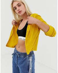 Noisy May - Textured Cropped Cardigan - Lyst