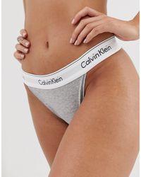 Calvin Klein Tanga - Modern Cotton - Gris