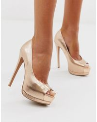 ASOS Playful Platform High Heels - Metallic