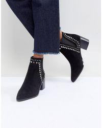 ALDO - Kiralia Studded Leather Ankle Boot - Lyst