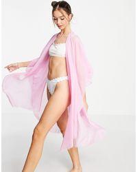 Vero Moda Розовая Пляжная Туника -фиолетовый Цвет - Пурпурный