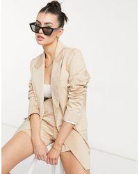 ALIGNE Organic Cotton Tailored Suit Blazer - Natural