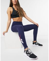 Reebok Side Logo leggings - Blue