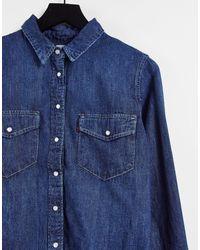 Levi's Джинсовая Oversized-рубашка Цвета Индиго В Стиле Вестерн -голубой - Синий