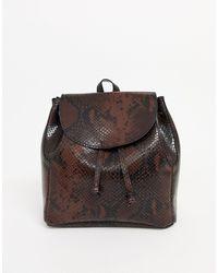 ASOS Mini Soft Minimal Backpack - Brown