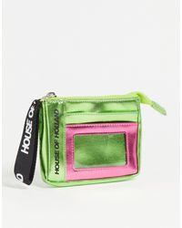 House of Holland Metallic Purse With Card Holder - Green