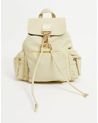 ASOS Backpack With Dog Clip Detail - Multicolor