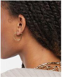 ALDO - Iberallan Crystal Stud Hoop Earrings - Lyst