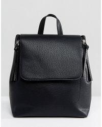 Stradivarius Mini Zipper Back Pack - Black
