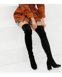 ASOS - Asos Design Petite Kadi Heeled Thigh High Boots - Lyst