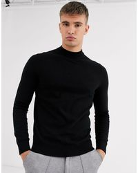 Burton Jersey negro con cuello alto