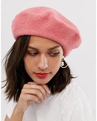 ASOS Wool Beret - Pink