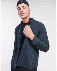 GANT Winter Check Regular Fit Button Down Shirt - Green