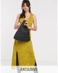Whistles – Exklusives Midikleid mit Trägershirt aus Jersey und Blumenmuster - Gelb