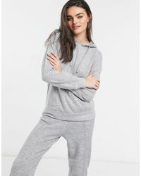 Lindex Felicity Super Soft Lounge Hoodie - Gray