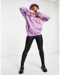 New Love Club - Oversized Hoodie With Llama Print - Lyst