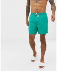 Original Penguin - Swim Shorts With Small Logo In Teal - Lyst