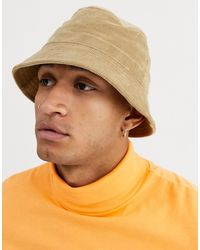 Weekday Cord Bucket Hat In Beige - Natural