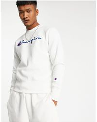 Champion Белый Свитшот С Логотипом Reverse Weave