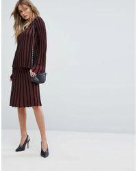 Y.A.S - Stripe Midi Skirt Co-ord - Lyst